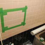お手軽に風呂場に鏡を取り付けてみた